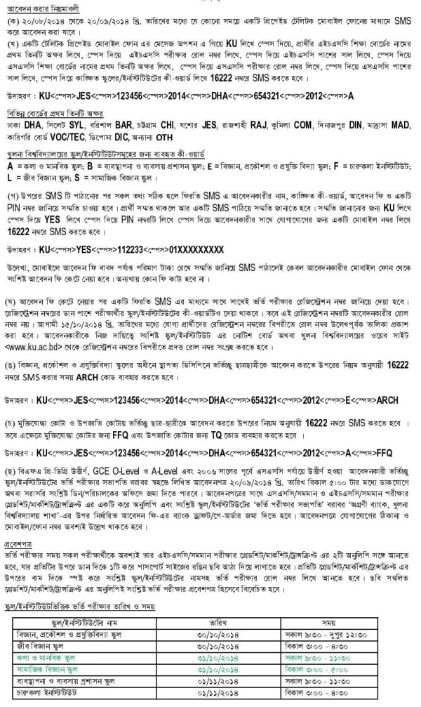 ku-admission-application-by-sms-2014