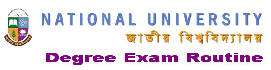 NU Degree Exam Routine Logo