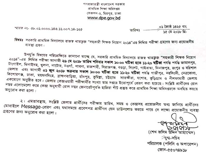 Primary School Teacher Job Circular & Result 2019